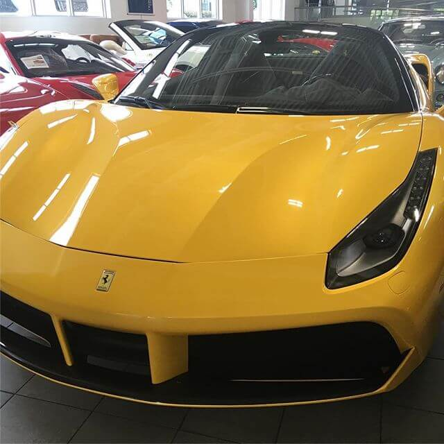 Ferrari 488 spider in yellow!. #riffsgarage #ferrari #488 #488spider
